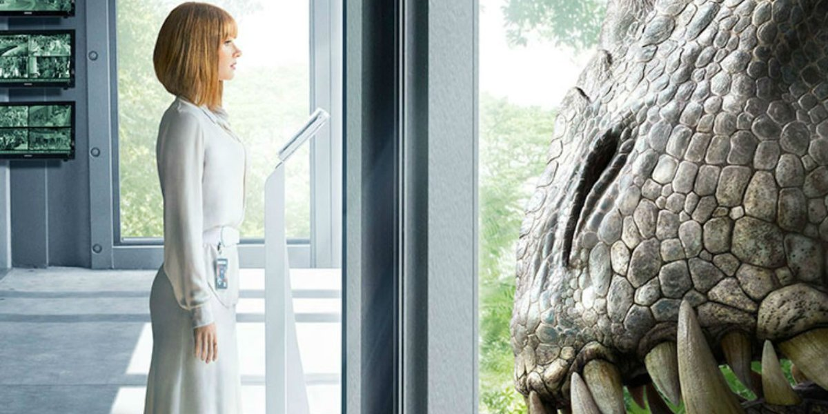Bryce Dallas Howard in the Jurassic World poster