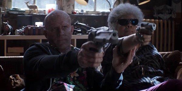 Wade Wilson and Blind Al in Deadpool 2