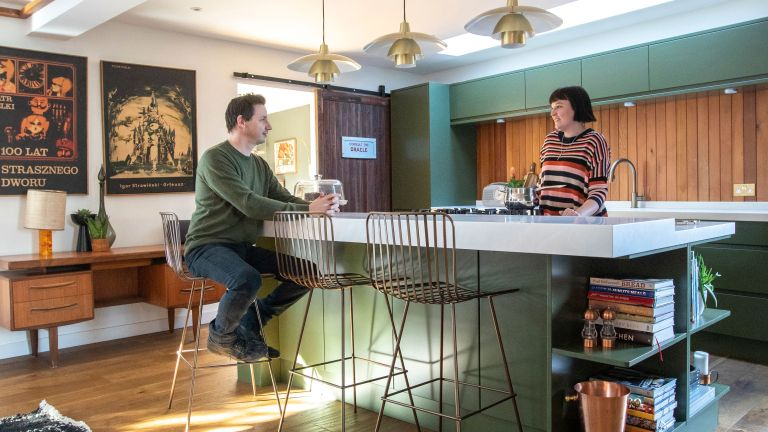 Vintage interiors aficionados Emma and Karim yearned for a mid-century house, which they found in this Essex renovation project – now their unique new home