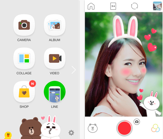 Best photo apps: LINE camera