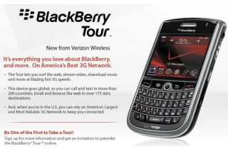 The new BlackBerry Tour is unveiled