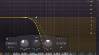 We're using FabFilter's excellent Pro-Q 2.