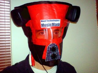 The MusicMask has stereo outputs and front mounted level controls