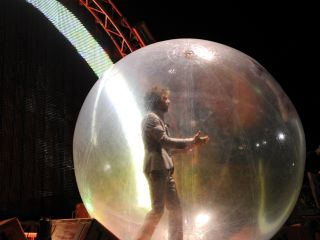Don't stand under Wayne Coyne. You might get 'brain damage'