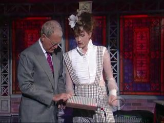 David Letterman pushes Imogen Heap's buttons.