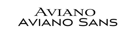 Font pairings: Aviano and Aviano Sans