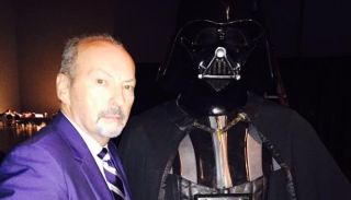Peter Moore and Darth Vader