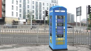 Doctor Who style blue phoneboxes become Wi Fi hubs in Leeds