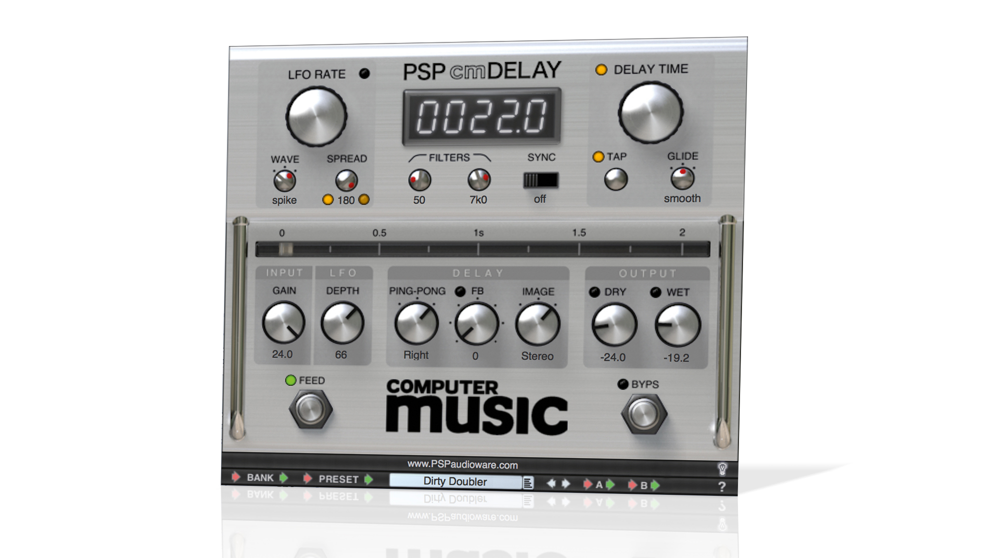 FREE PSP VST/AU delay plugin with Computer Music 235