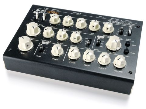 The retro looks and analogue sound of Vermona's latest will appeal to old synth fans.