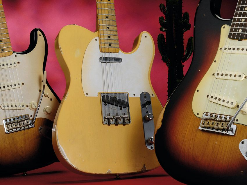 Genuine Fender Road Worn Tele String Guide Telecaster Aged NEW