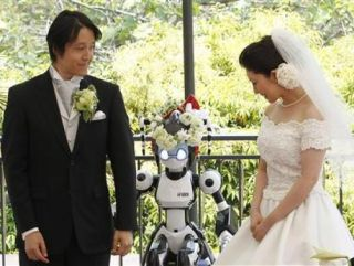 i-Fairy robot marries Japanese couple in Tokyo