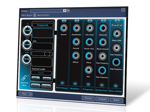 SpectrumWorx 2 may hold a lot of crazy effects, but its interface is nicely straightforward.