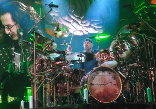 Neil Peart playing live at Capps Coliseum last summer
