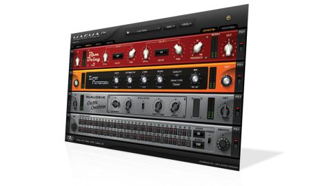 The plug-in comprises four separate racks (each with four effects slots) plus a routing window