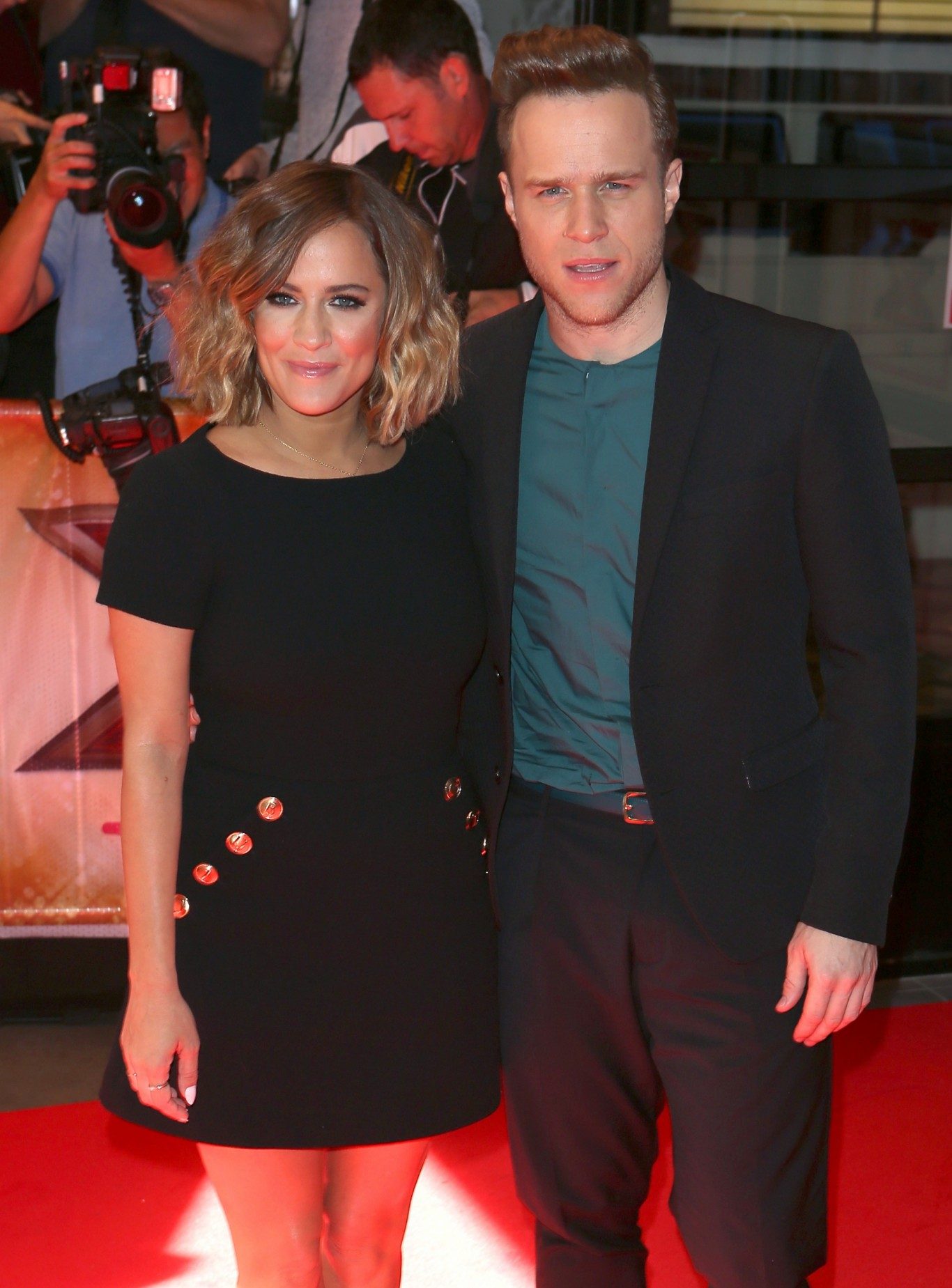 Caroline Flack and Olly Murs on the red carpet at X Factor launch