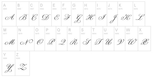 Tattoo fonts: Champignon