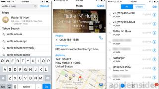 Neat iOS 8 feature pulls Maps data into iPhone's 'Recents' list""