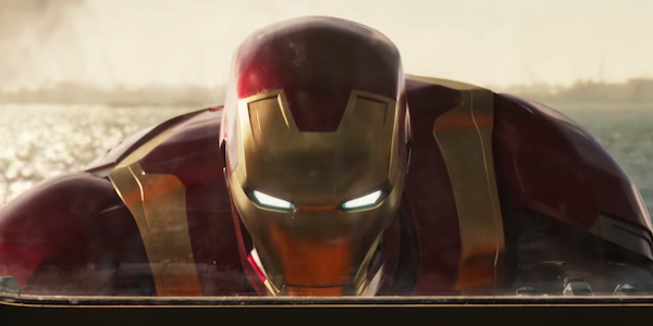 Iron Man pushing ferry in Spider-Man: Homecoming
