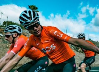 Chris Froome is back in training