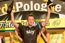 Stage winner Bradley Wiggins (Sky)