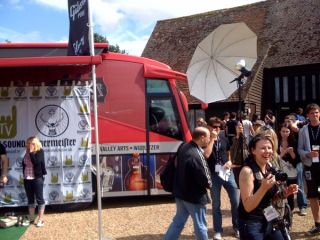 The Gibson Bus, seen here at Sonisphere, is on its way to Cornwall