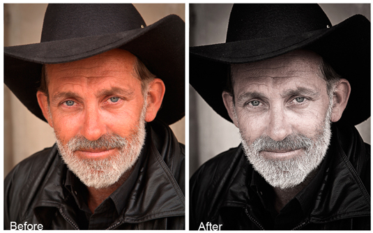 Free Photoshop actions: portrait action