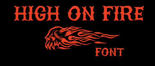Tattoo fonts: High on Fire