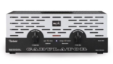 The Cabulator's front controls look after the power reduction and speaker voicing