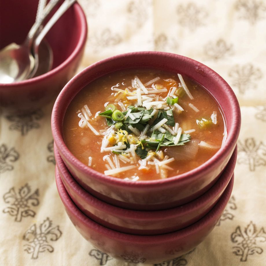 Lentil Soup with Bacon and Orzo Recipe