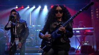 A Boogie Wit da Hoodie feat. H.E.R. performs on The Tonight Show with Jimmy Fallon