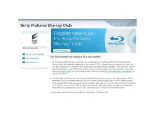 Sony asks you to join its club