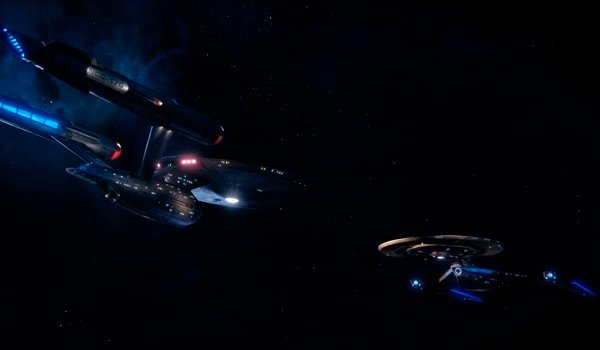 The Enterprise and Discovery Star Trek: Discovery CBS All Access