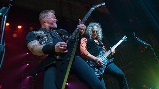 Metallica performing live
