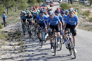 Cycling: Murcia Tour / Vuelta Murcia / Etapa 1 / Stage 1 / BUNCH / PELOTON / GAZPROM-RUSVELO (GAZ) / Los Alcázares - Caravaca De la Cruz (177,6 Km) 14-02-2020/ Cycling: Murcia Tour / Vuelta Murcia / Etapa 1 / Stage 1 / Luis Angel Gomez ©PHOTOGOMEZSPORT2020