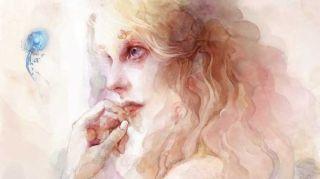 How to paint a digital watercolour portrait