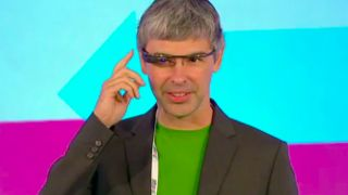 Google CEO Larry Page brings Project Glass prototype to London