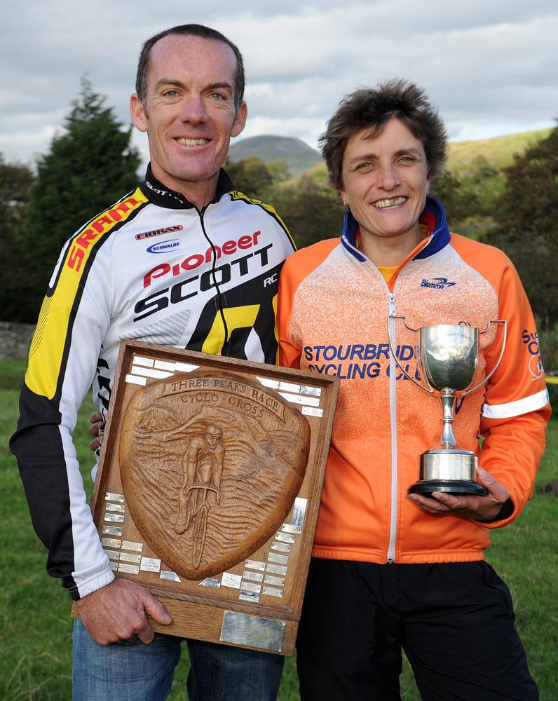 Nick Craig and Louise Robinson, Three peaks Cyclo-Cross 2011