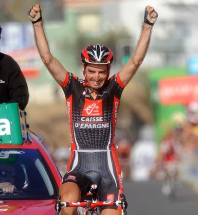 David Lopez wins Vuelta a Espana 2010 stage 9