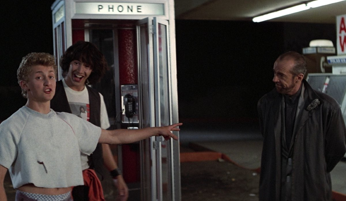 Bill & Ted's Excellent Adventure Future Bill and Ted share their trust in Rufus