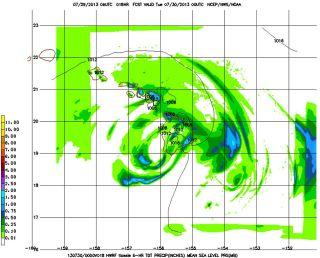 Hurricane model forecast of Tropical Storm Flossie