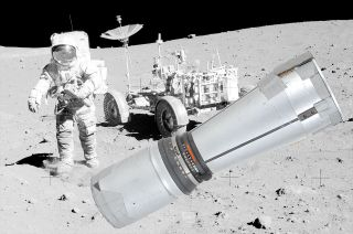 Apollo 15 commander David Scott with Telephoto Lens