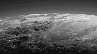 This is what sunset looks like on Pluto