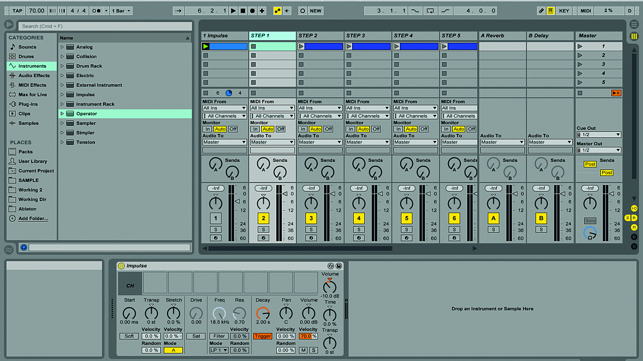 Randomising trap hi-hats with Ableton Live's Impulse | MusicRadar