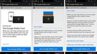 Google Wallet card info