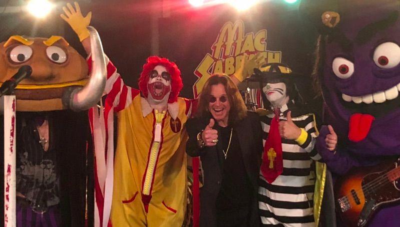 Watch Ozzy Osbourne Witness a Performance by Fast-Food-Themed Black Sabbath Parody Act