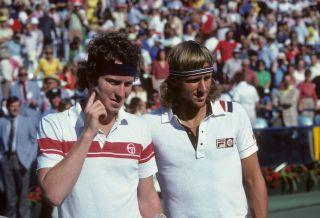 John McEnroe and Björn Borg in 1980