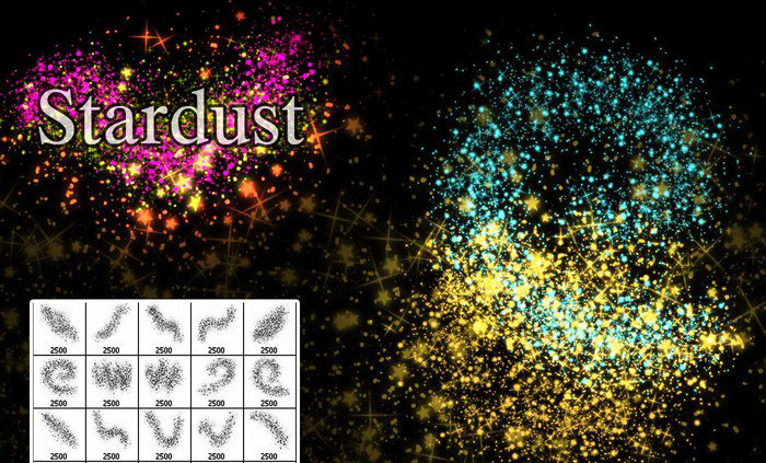 Photoshop brushes: Stardust brushes