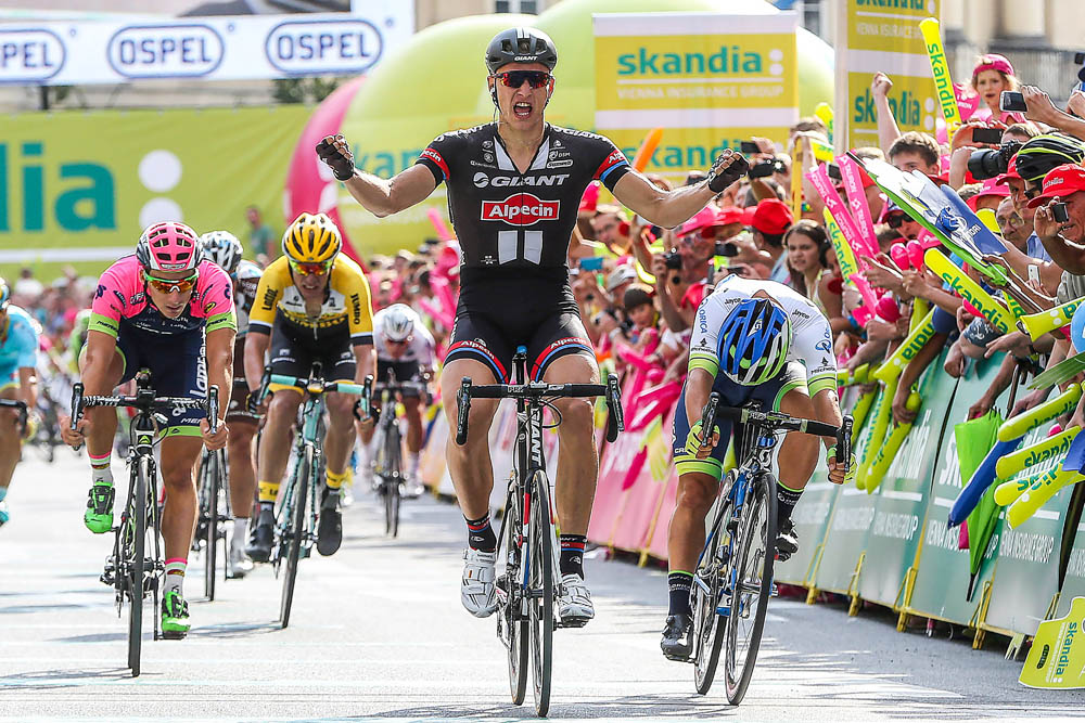 Marcel Kittel wins stage one of the 2015 Tour of Poland