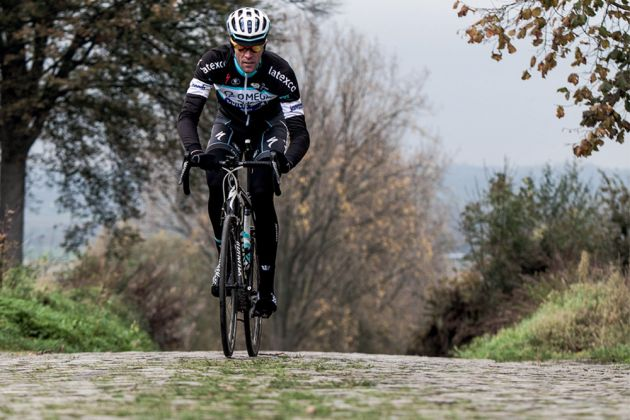 Vandenbergh training on the Koppenberg. Photo: Daniel Gould